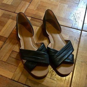 Franco Sarto Black Flats